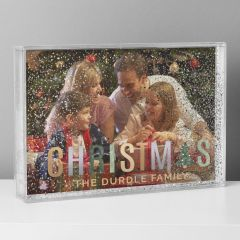 Personalised Christmas Glitter Shaker Photo Frame 6x4