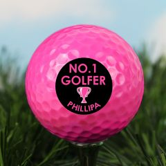 Personalised No1 Golfer Pink Golf Ball
