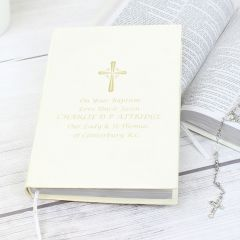 Personalised Holy Bible Gold Writing