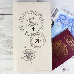 Personalised Stamp Design Travel Document Holder