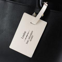 Personalised Classic Design Cream Luggage Tag