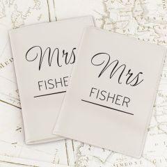 Personalised Couples Cream Design Passport Holders