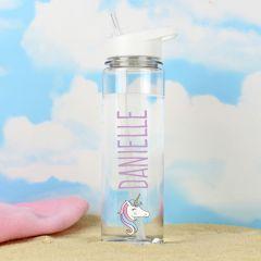 Personalised Unicorn Design Island Water Bottle