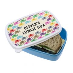 Personalised Little Elephants Lunch Box