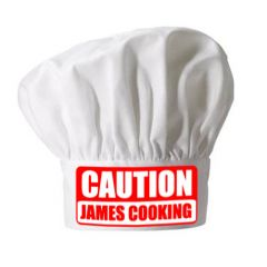 Personalised Caution Cooking Chefs Hat