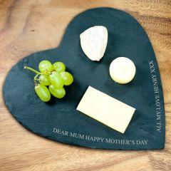 Personalised Heart Slate Cheese Board