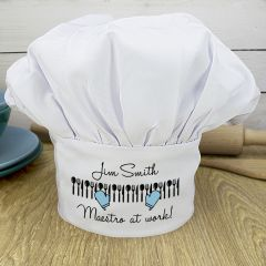 Personalised Maestro At Work Chef Hat