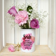 Bridal Personalised Miniature Champagne Bucket