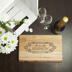 Personalised Wedding Date Rustic Welsh Ash Serving Board