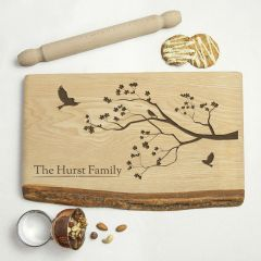 Personalised Family Tree Rustic Wood Serving Board