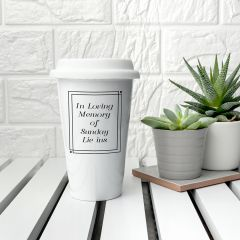 Personalised Loving Memory Ceramic Travel Mug