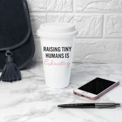 Personalised Tiny Humans Ceramic Travel Mug