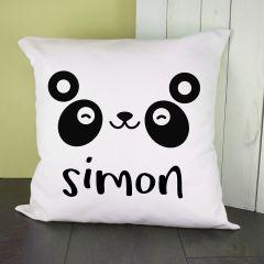 Personalised Cute Panda Eyes Cushion Cover