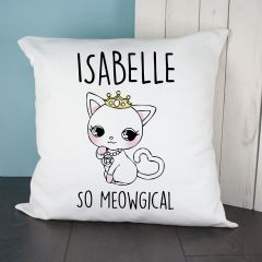Personalised So Meowgical Cushion Cover