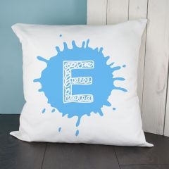 Personalised Splatter Initial Cushion Cover