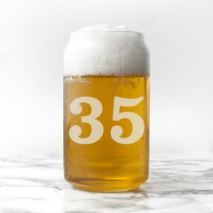 Personalised Birthday Can Shaped Glass