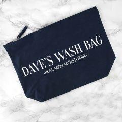 Personalised Men's Navy Blue Wash Bag