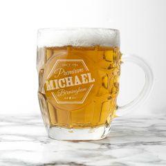 Personalised Premium Design Dimpled Beer Glass