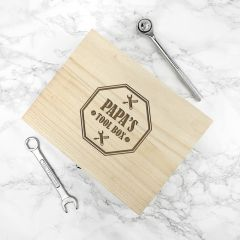 Personalised Dad's Emblem Tool Box