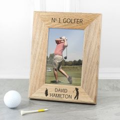 Wordsworth Collection Top Golfer Engraved Photo Frame