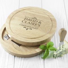 Personalised Traditional Couple's Cheese Set