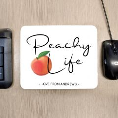 Personalised Peachy Life Mouse Mat