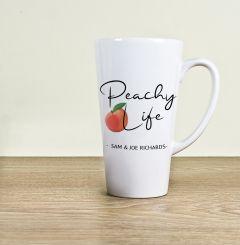 Peachy Life Latte Mug