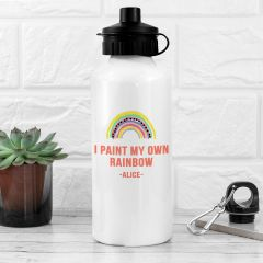 Personalised My Own Rainbow White Water Bottle