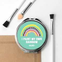 Personalised My Own Rainbow Round Compact Mirror