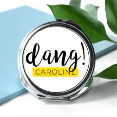 Personalised Dang Round Compact Mirror