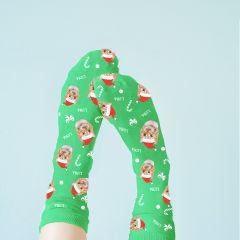 Personalised Christmas Icon & Pet Photo Socks