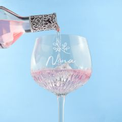 Personalised Name & Icon Crystal Gin Goblet