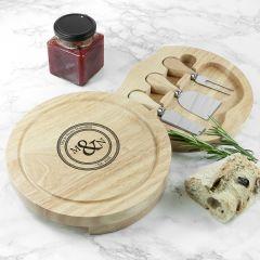 Monogram Couple Cheese Board Set