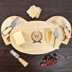 Personalised Monogram Feature Classic Cheese Board Set