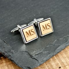 Personalised Square Wooden Cufflinks