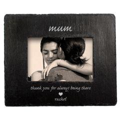 Personalised Thank You Mum Slate Photo Frame