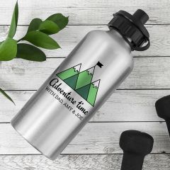 Personalised Adventure Time Silver Water Bottle