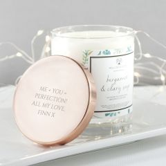 Personalised Bergamot & Clary Sage Luxury Scented Candle