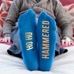 Personalised Blue & Yellow Adult Socks