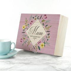 Personalised Floral Design Tea Box