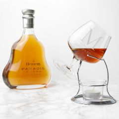 Personalised Brandy Glass & Warmer Stand