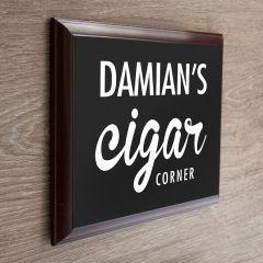 Personalised Cigar Corner Wooden Plaque