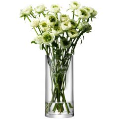 Personalised Engraved Column Vase