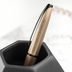 Personalised Rose Gold Cross ATX Pen