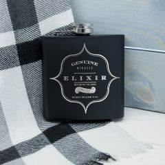 Personalised Elixir Vintage Design Hip Flask