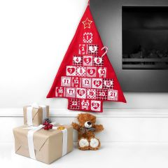 Personalised Red Christmas Tree Advent Calendar