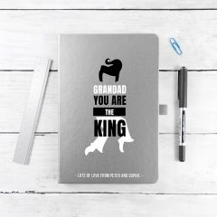 Personalised Grandad The King A5 Notebook - 8 Colours