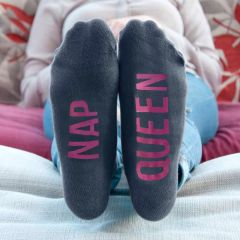 Personalised Grey & Hot Pink Adult Socks