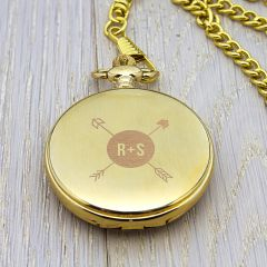 Personalised Monogrammed Gold Finish Pocket Watch