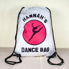 Personalised Kids Drawstring Dance Sports Bag